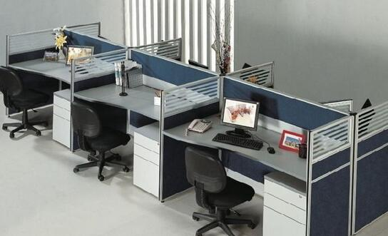 公家具厂办公室屏风隔断效果图